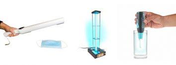 3 different UVC lights