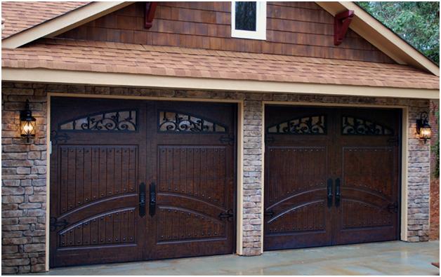 Beautiful Garage Doors Dark Cherry Wood