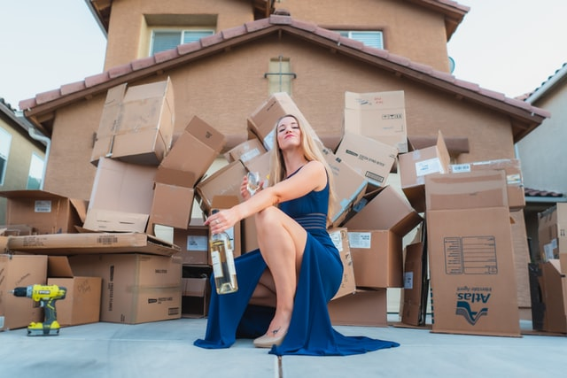 Mom in front of Direct-door-to-door Gifts