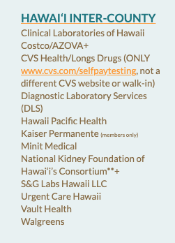 Covid testing centers to enter hawaii