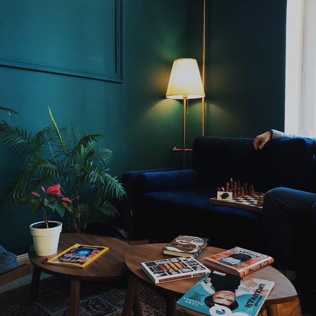 Navy Blue Velvet couch