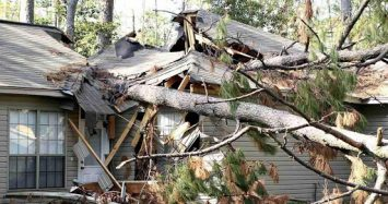 A Roof Damaged in a Natural Disaster