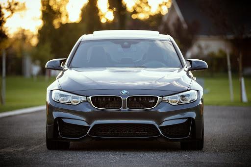 Black BMW car hand washed like a professional car detailer