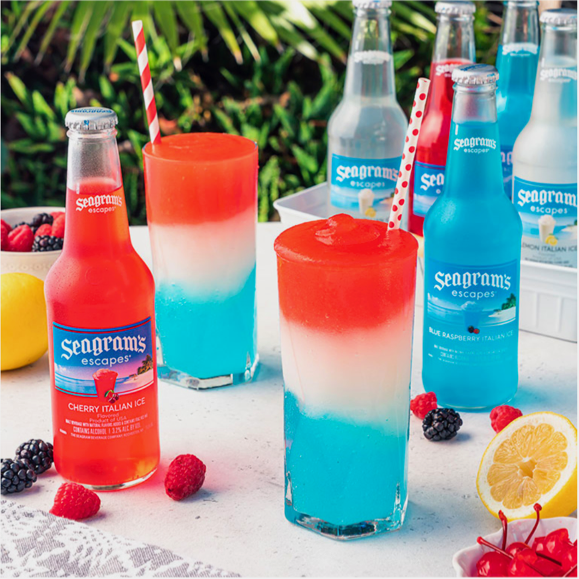 Seagram's Italian Ice Red White and Blue