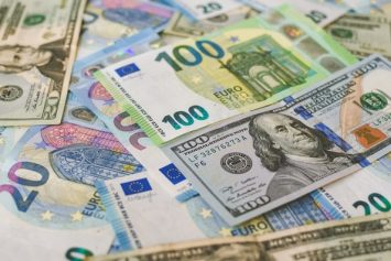 Foreign Currency Being Exchanged with Forex