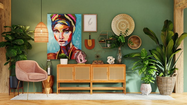 Example of how to decorate a new place to feel like home.