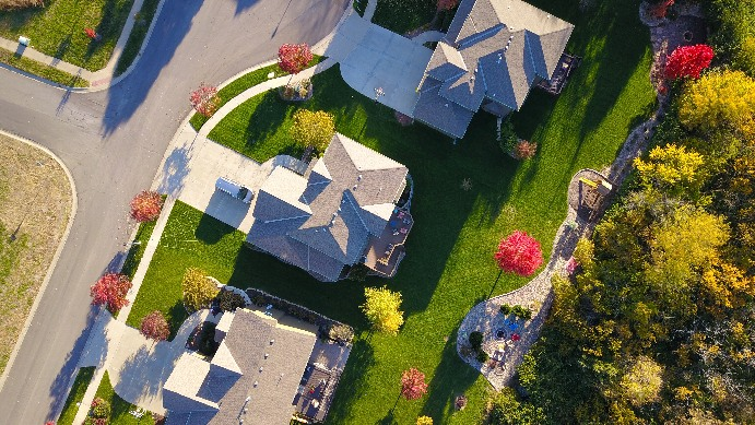 Arial view ofhomes that need Refinancing