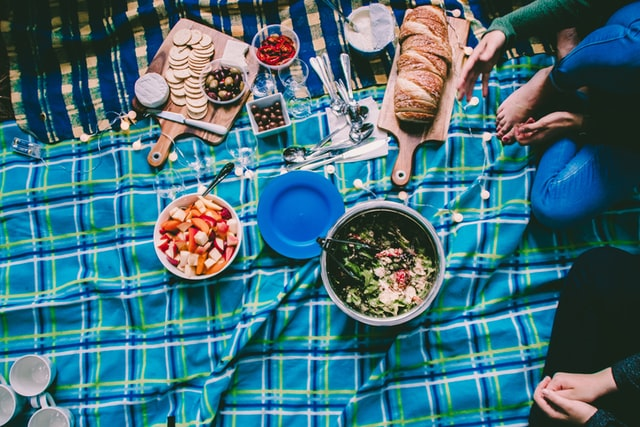 A picnic made to take for a hike