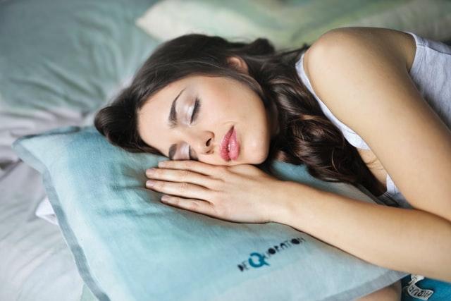 Women sleeping on a quality mattress